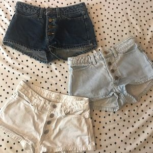 american apparel button front shorts